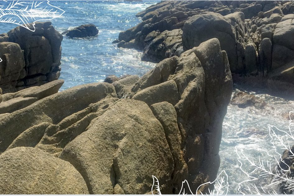 rock formation in Puerto Escondido showing when you start living for yourself you'll see wonderful things.