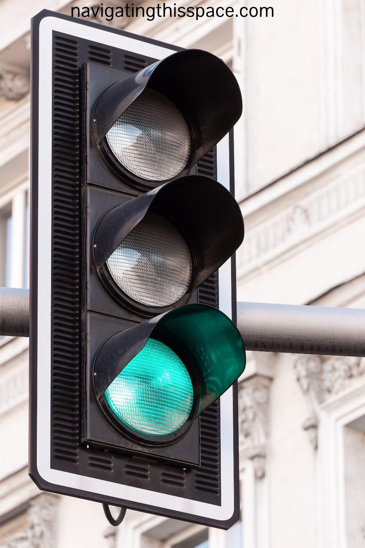 a green light traffic light