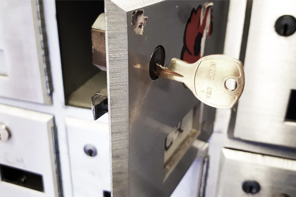 a safe with a lock