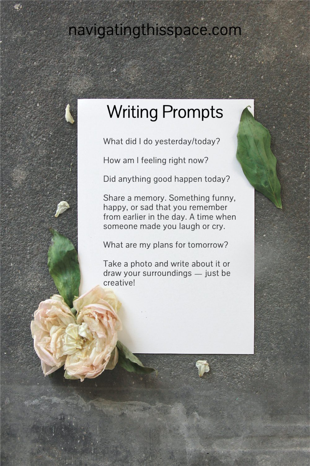 writing prompts are a way to journal daily